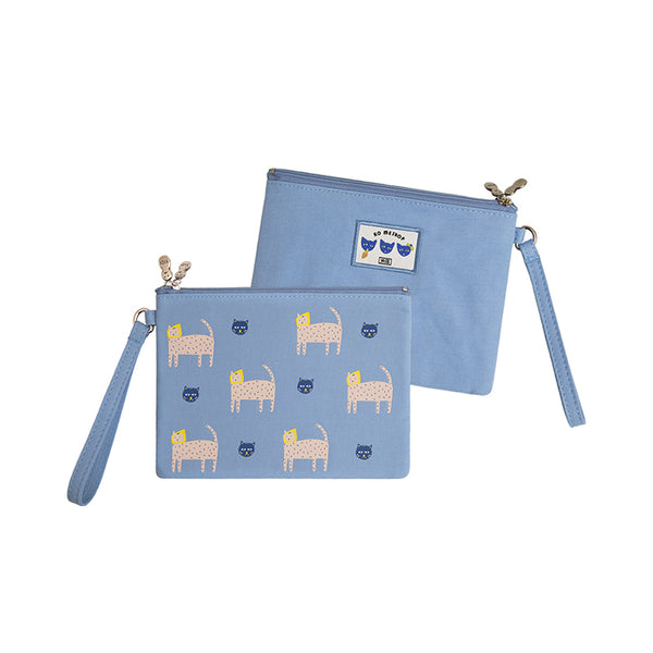 Small Storage Cat Blue Pouch By YIZI STORE X KOMESHOP