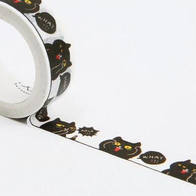 Black Cats Washi Tape