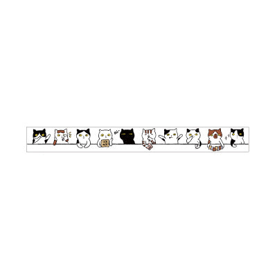 Cats In A Row Washi Tape