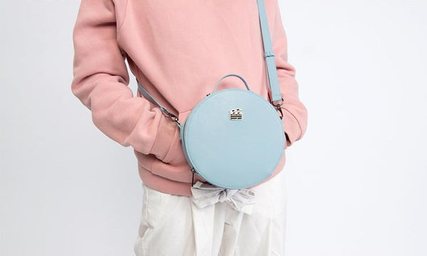 Classic Round Crossbody Bag By Kiitos Life - OUT OF PRODUCTION