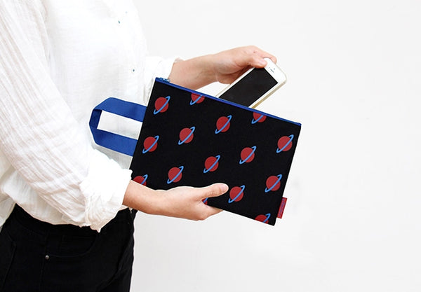 Clutch Planet Black Pouch by U-Pick
