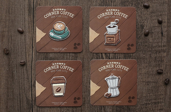 Coffee Embroidered Sticker Iron-On Patch