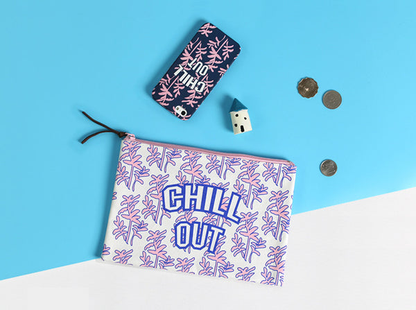 Chill Out Graphic Pattern Pouch