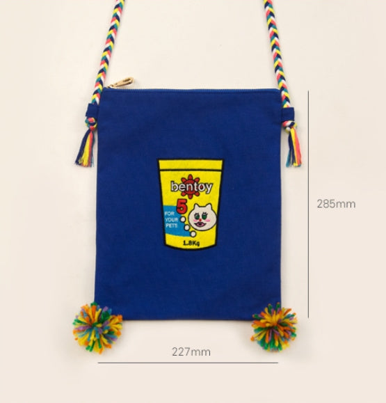 Convenience Store [Popcorn] Embroidered Sling Bag By Bentoy