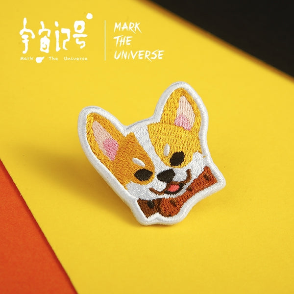 Corgi Embroidery Brooch By Mark The Universe