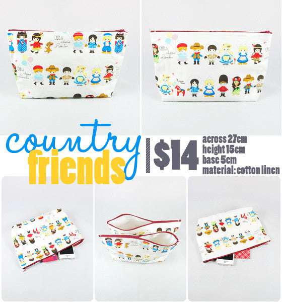 [Country Friends] Zip Pouch