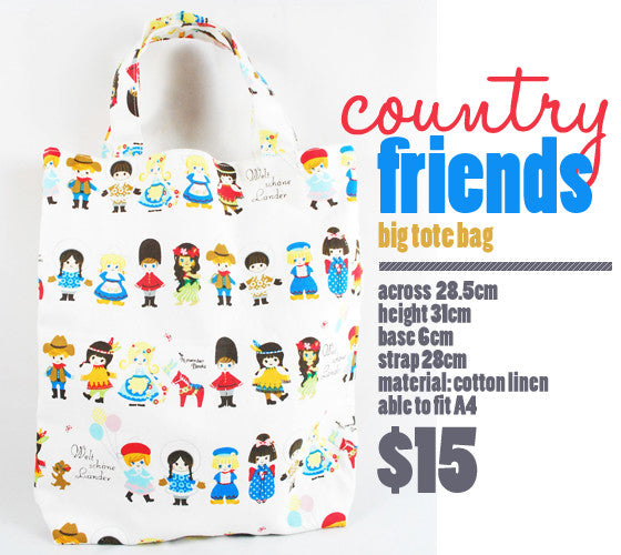 [Country Friends] Small Tote Bag