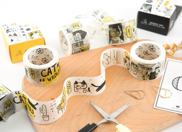 Cat World Food Fight Washi Tape