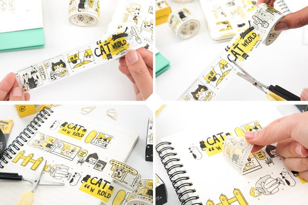 Cat World Washi Tape