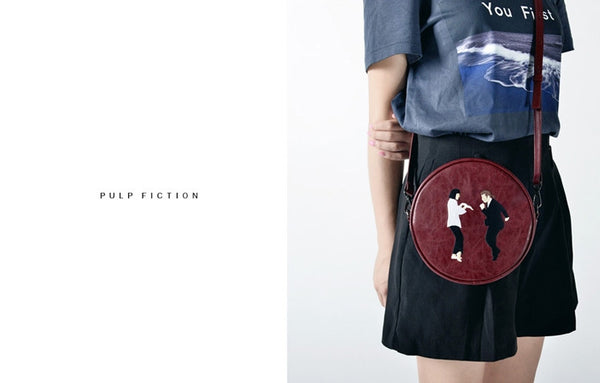 Kiitos Life Round Crossbody Pulp Fiction Bag
