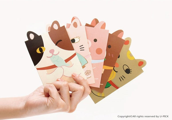 Cute Animals [Fish Cat] Red Packets By U-Pick