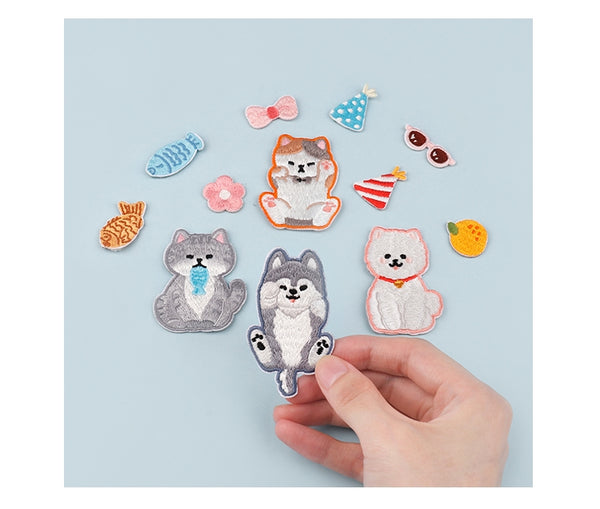 Cute Cat Embroidered Sticker Iron-On Patch