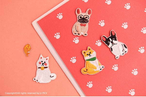 Dog Embroidered Sticker Iron-On Patch
