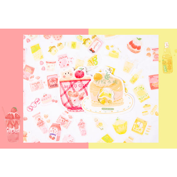 Cute Food [Strawberry Ice] Stickers Pack