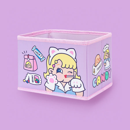 Cutie Girl [Cat] Storage Box By Milkjoy