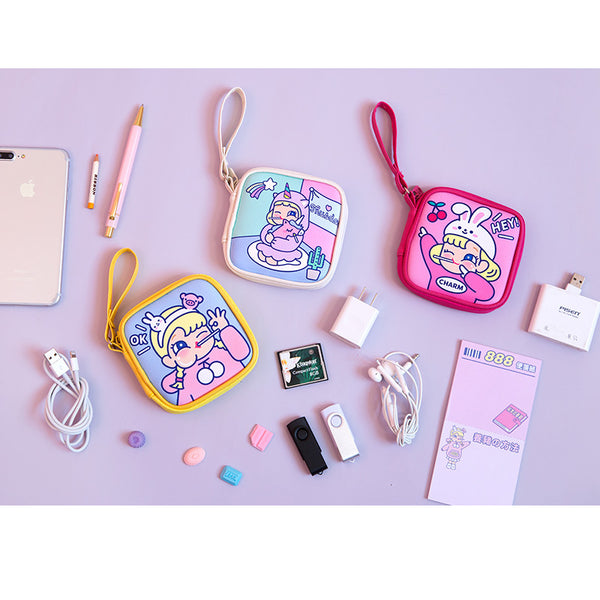 Cutie Girl [Hey Rabbit] Cable Holder Pouch By Milkjoy