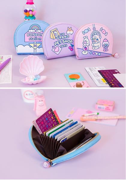 Cutie Girl [Hey Rabbit] Card Holder Pouch By Milkjoy