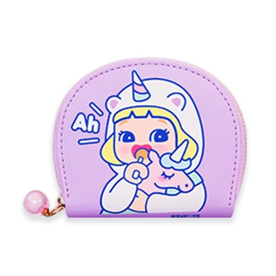 Cutie Girl Ah Unicorn Card Holder Pouch By Milkjoy