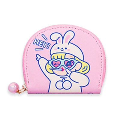 Cutie Girl Hey Rabbit Card Holder Pouch By Milkjoy