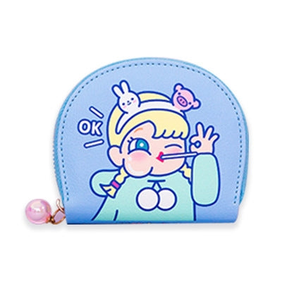 Cutie Girl [OK Girl] Card Holder Pouch By Milkjoy