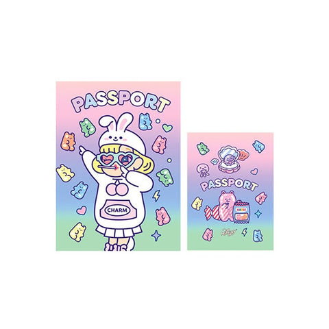Cutie Girl Jelly Rabbit Jelly Passport Cover By Milkjoy