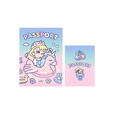 Cutie Girl Unicorn Float Jelly Passport Cover By Milkjoy