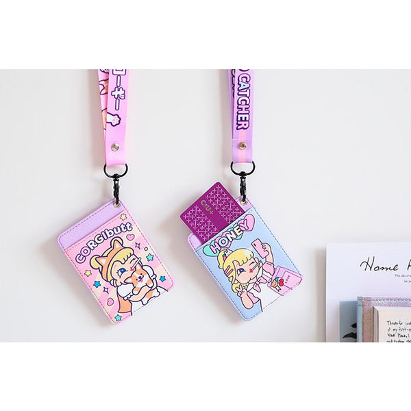Cutie Girl [Honey] Lanyard Card Holder By Milkjoy
