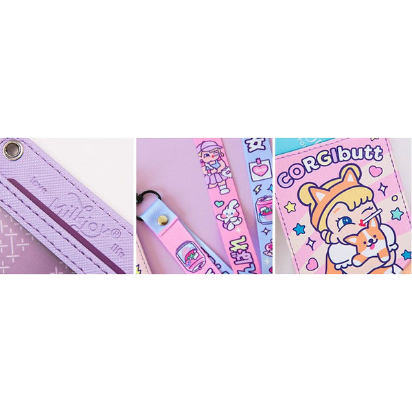 Cutie Girl [Corgi Butt] Lanyard Card Holder By Milkjoy