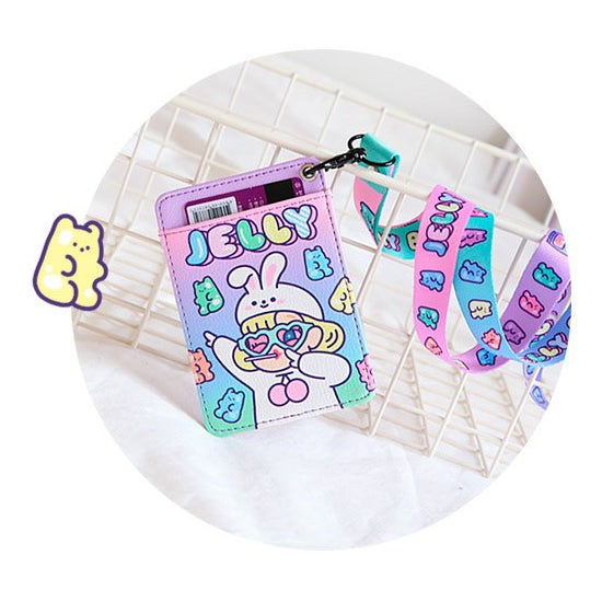 Cutie Girl [Jelly] Lanyard Card Holder By Milkjoy