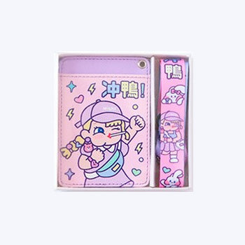 Cutie Girl Rushing Lanyard Card Holder By Milkjoy