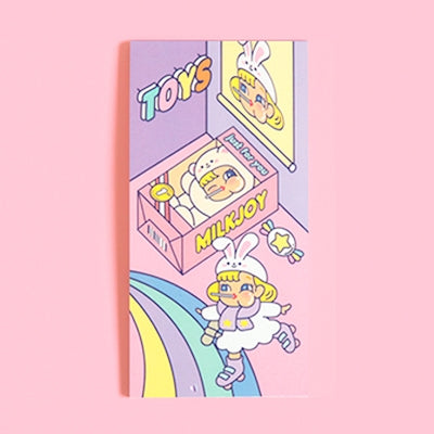Cutie Girl Skating Notepad By Milkjoy