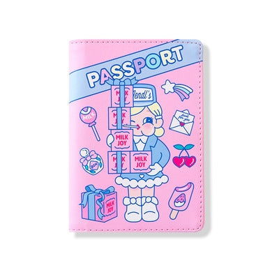 Cutie Girl Budapest Hotel Passport Cover By Milkjoy