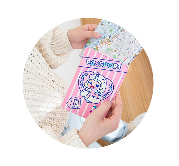 Cutie Girl [Unicorn] Passport Cover By Milkjoy