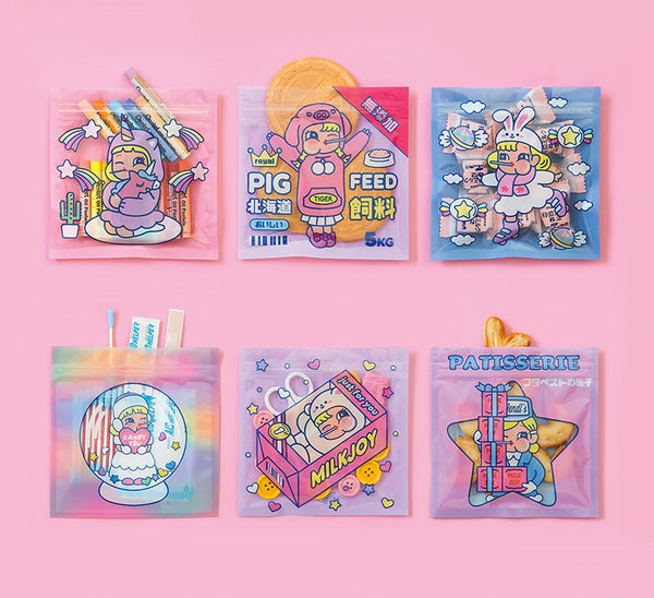 Cutie Girl [Lobby Boy] Storage Zipper Bag By Milkjoy