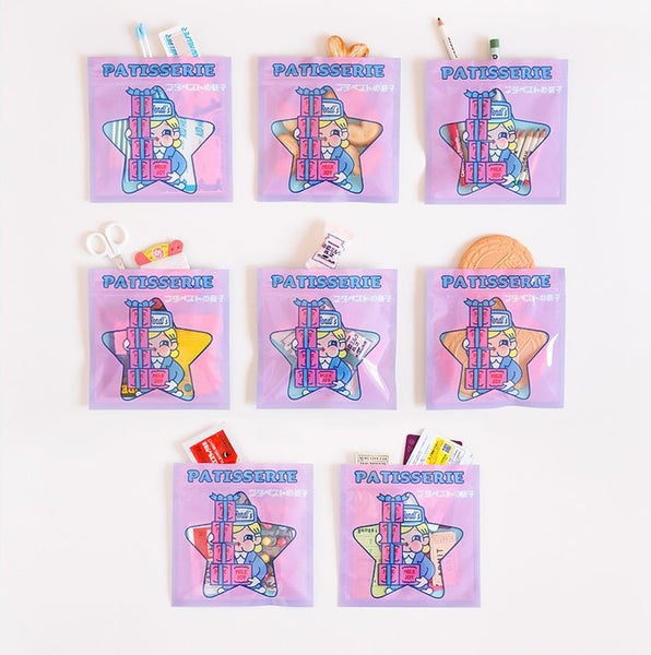 Cutie Girl Lobby Boy Storage Zipper Bag By Milkjoy