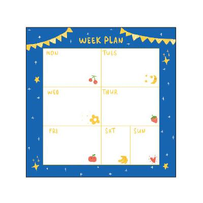Cutie Note Weekly Plan Sticky Notes