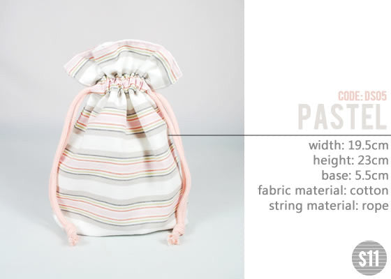 [Pastel] Drawstring Pouch