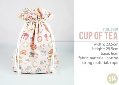 [Cup of Tea] Drawstring Pouch