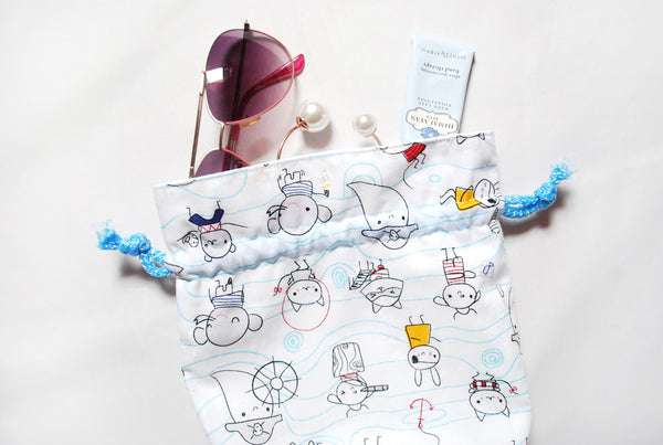[Captain Ghost] Drawstring Pouch (3 Sizes)