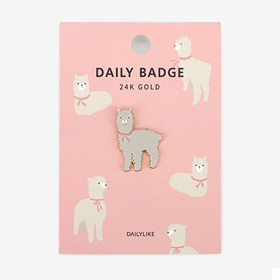 Daily Badge Alpaca Pin By Dailylike
