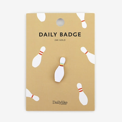 Daily Badge Bowling Pin Pin By Dailylike