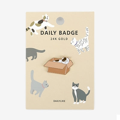 Daily Badge Cat Pin By Dailylike
