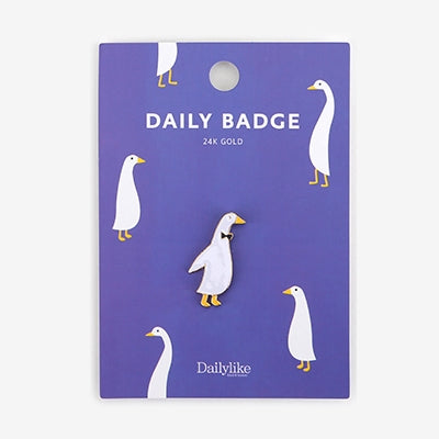 Daily Badge Goose Pin By Dailylike