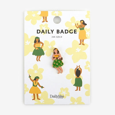 Daily Badge Hula Dance Pin By Dailylike