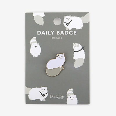 Daily Badge Persian Cat Pin By Dailylike