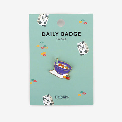 Daily Badge Cereal Pin By Dailylike