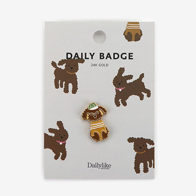 Daily Badge Poodle Pin By Dailylike