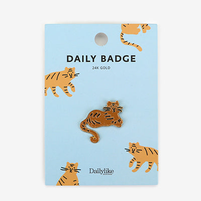 Daily Badge Tiger Pin By Dailylike