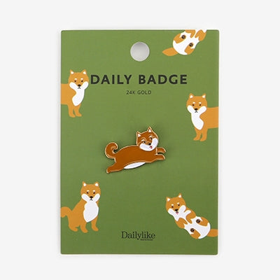 Daily Badge Shiba Inu Pin By Dailylike