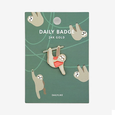 Daily Badge Sloth Pin By Dailylike
